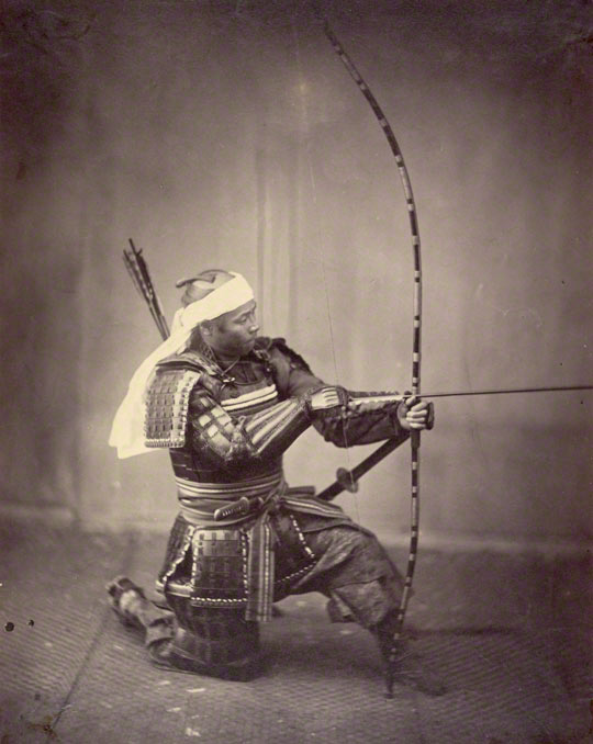 Samurai with Long Bow, Felice Beato, 1863. The J. Paul Getty Museum, 2007.26.154