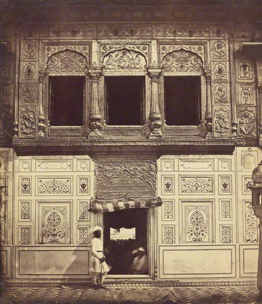 Interior of the Sikh Temple with Marble Mosaic, Felice Beato (British, born Italy, 1832–1909), negative, 1858; print 1862. Printed by Henry Hering. The J. Paul Getty Museum, 84.XM.475.7