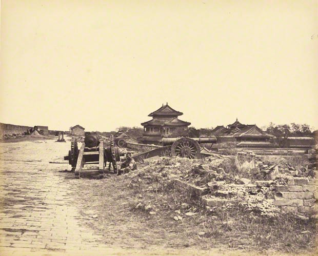 Top of the Wall of Peking, Felice Beato, October 14, 1860, or later. The J. Paul Getty Museum, 84.XA.886.5.27
