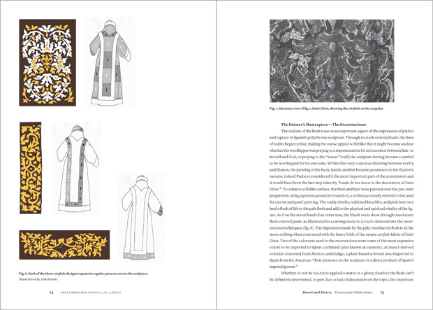 Spread from the 2011 volume of The Getty Research Journal
