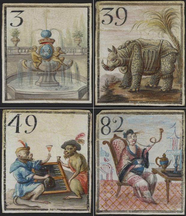 Game cards from Cavagnole Game Bag and Pieces (Jeu de cavagnole)