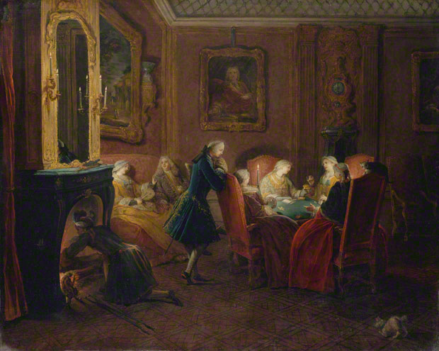 Interior with Card Players / Pierre-Louis Dumesnil, about 1752. The Metropolitan Museum of Art