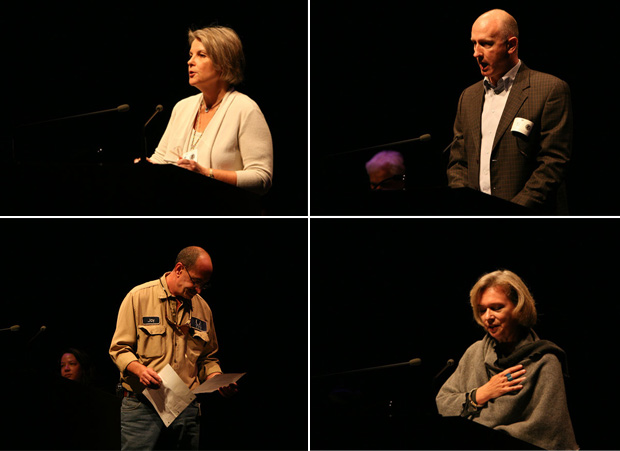 Four voices: Karol Wight, Yannis Simonides (managing director of the Readers of Homer), Claire Lyons, and Jay Kurtz