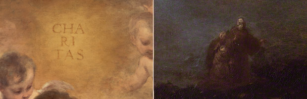 Details from The Vision of Saint Francis of Paola / Bartolomé Esteban Murillo