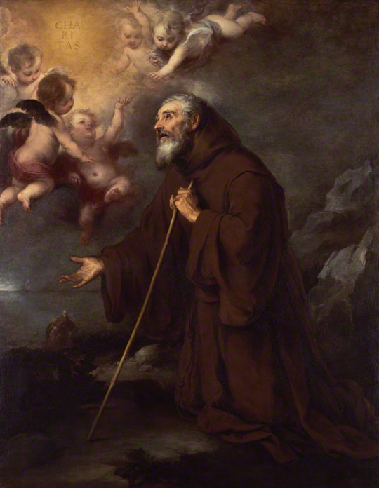 <em>The Vision of Saint Francis of Paola</em>, Bartolomé Esteban Murillo, about 1670. The J. Paul Getty Museum, 2003.144
