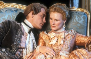 John Malkovich and Glenn Close look fabulous, act malicious in Dangerous Liaisons. Photo: Photofest