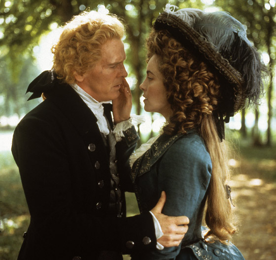 Nick Nolte (as Thomas Jefferson) gets some French culture from Greta Scacchi (as Greta Scacchi) in <em>Jefferson in Paris</em>. Photo: Photofest