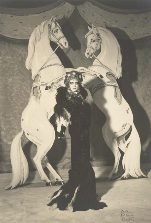 <em>Untitled (The Marquise Casati with Horses)</em>, Man Ray, 1935. The J. Paul Getty Museum, 84.XM.1000.68