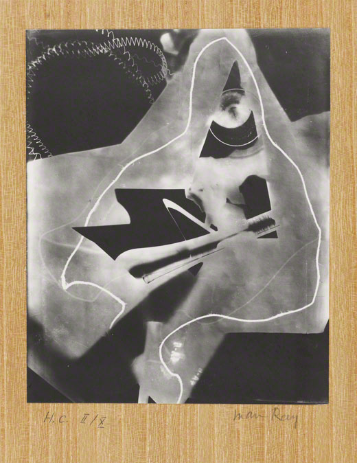 <em>Untitled Rayograph</em>, Man Ray, 1923. The J. Paul Getty Museum, Gift of Marc and Jane Nathanson. 2000.14 © Man Ray Trust ARS-ADAGP