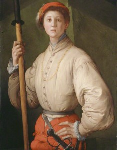 Portrait of a Halberdier (Francesco Guardi?), Pontormo, 1528–30. The J. Paul Getty Museum, 89.PA.49