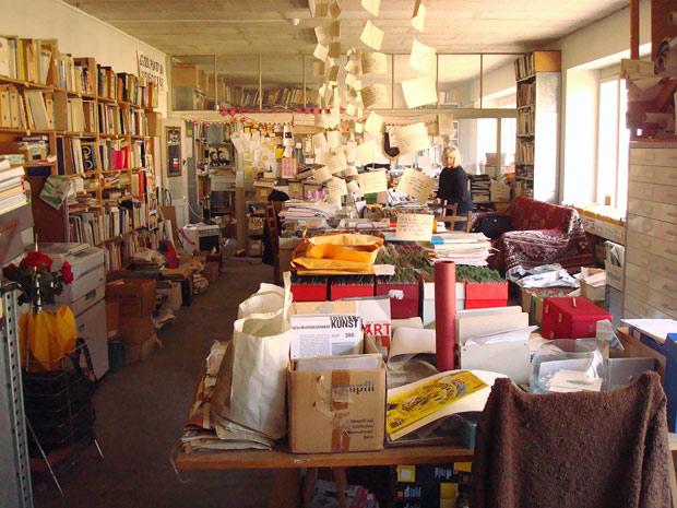 Harald Szeeman's workroom at his home in Maggia, Switzerland