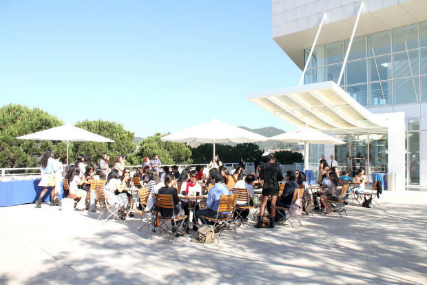 Participants in the Getty Foundation&#039;s Multicultural Undergraduate Internship (MUI) program meet with other interns at the 2011 Arts Summit