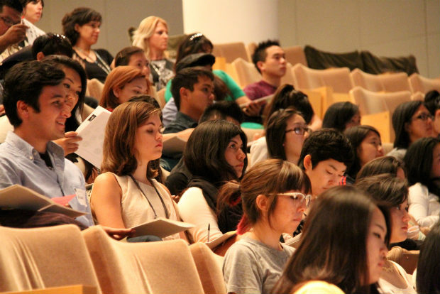 Participants in the Getty Foundation's Multicultural Undergraduate Internship (MUI) program attend a session at the 2011 Arts Summit