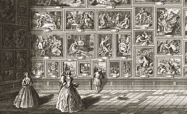 Detail of a View of a Room at Pommersfelden Palace / Johann Georg Pintz, printmaker; Salomon Kleiner, draftsman