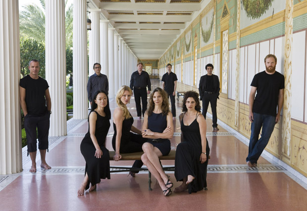 Cast of Trojan Women (after Euripides) at the Getty Villa.