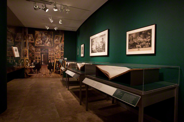 Interior gallery view of Display and Art History at the Getty Research Institute