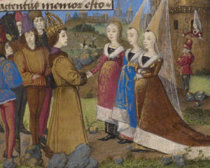 The Emperor Sigismund Arriving in Siena / French, about 1460-70