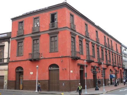 The Hotel El Comercio in Lima, constructed of adobe and wattle and daub, is being studied in the Seismic Retrofitting Project