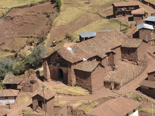 Church of Kuño Tambo near Cusco, Peru, an earthen building being studied as part of the Seismic Retrofitting Project