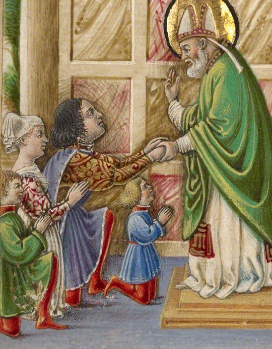 Saint Bellinus Celebrating Mass / Taddeo Crivelli