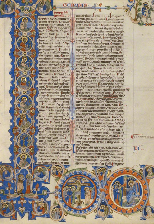 Initial I: Scenes of the Creation of the World and the Life of Christ in the Abbey Bible / Italian