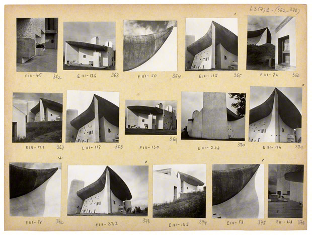 Photographs by Lucien Herve of Le Corbusier's Chapel of Notre-Dame-du-Haut, Ronchamp, France