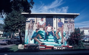 Ghosts of the Barrio mural by Wayne Healy / photographed circa 1970-1974