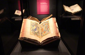 Stammheim Missal on display in the Getty Museum galleries