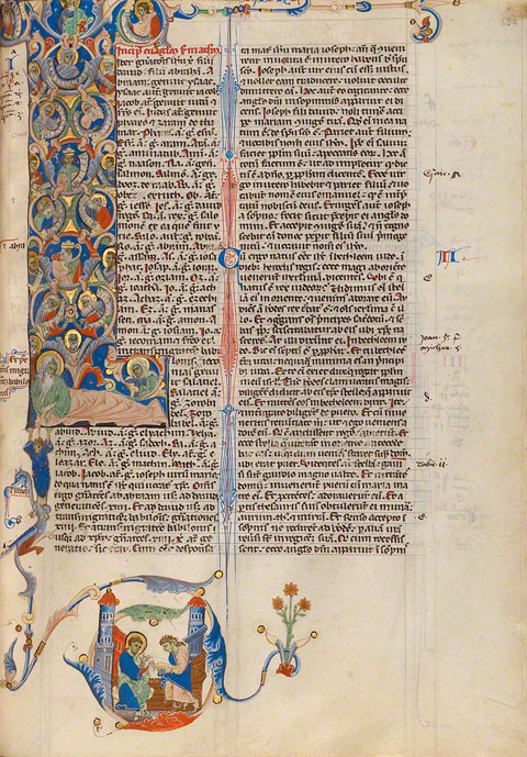 Initial L: The Tree of Jesse (folio 380) from the Abbey Bible: final, color-corrected image