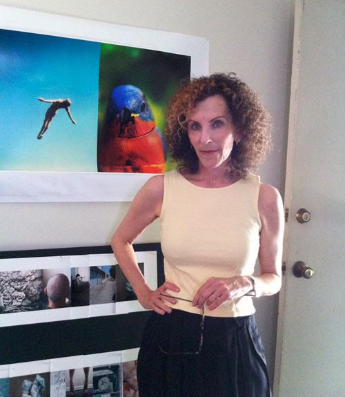 Eileen Cowin in her studio, 2011