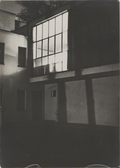 Moholy's Studio Window around 10 p.m. / Lyonel Feininger