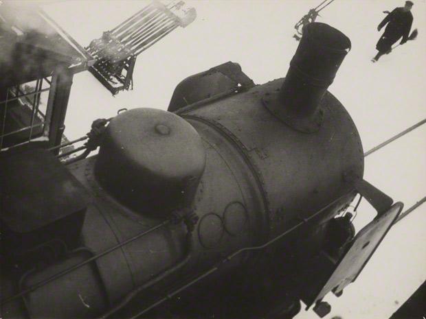 Untitled (Train Station, Dessau) / Lyonel Feininger
