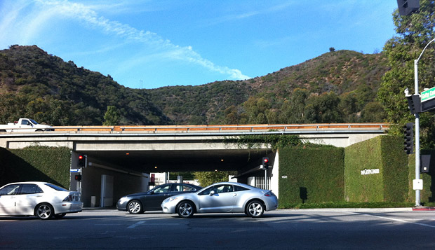Getty Center entrance on Sepulveda Boulevard, November 2011
