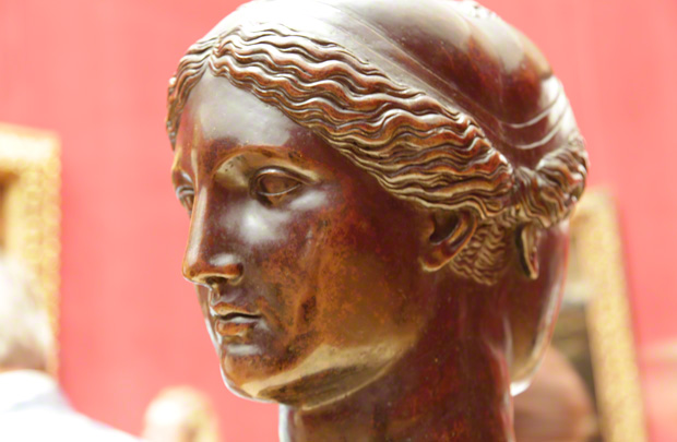 Double Head (detail of face) / Francesco Primaticcio