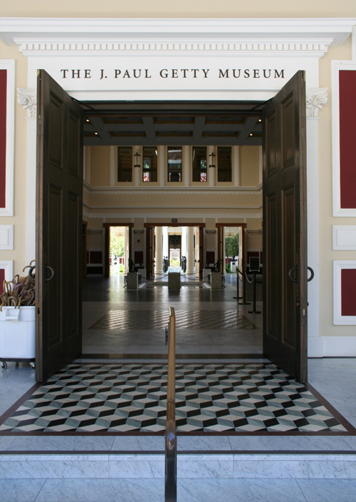 Entrance to the J. Paul Getty Museum at the Getty Villa