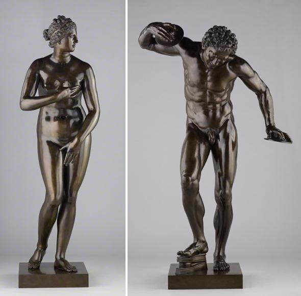 Venus de' Medici and Dancing Faun / Pietro Cipriani