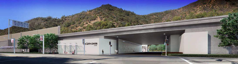 Architect's rendering of the new Getty Center entrance