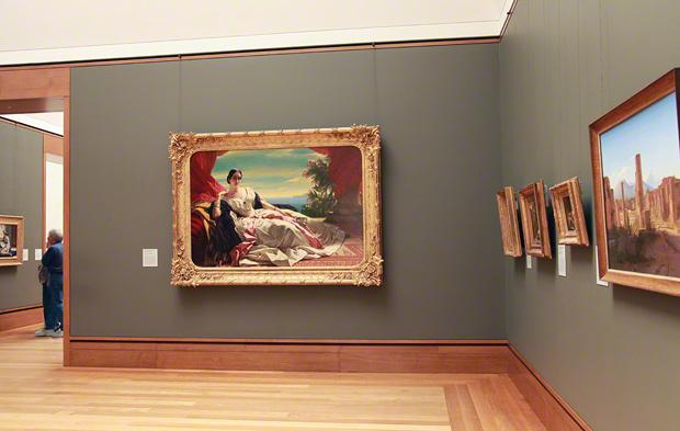 Portrait of Leonilla, Princess of Sayn-Wittgenstein-Sayn by Franz Xaver Winterhalter in Gallery W201 at the Getty Center