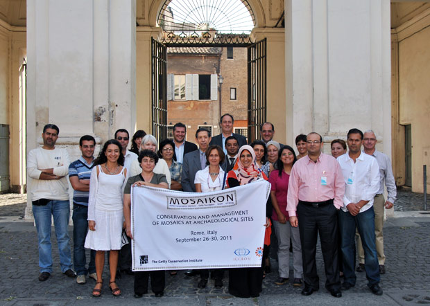 Participants in the 2010-2011 course on the Conservation and Management of Mosaics at Archaeological Sites, in Rome, Italy.