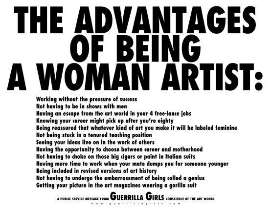 The Advantages of Being a Woman Artist / Guerrilla Girls