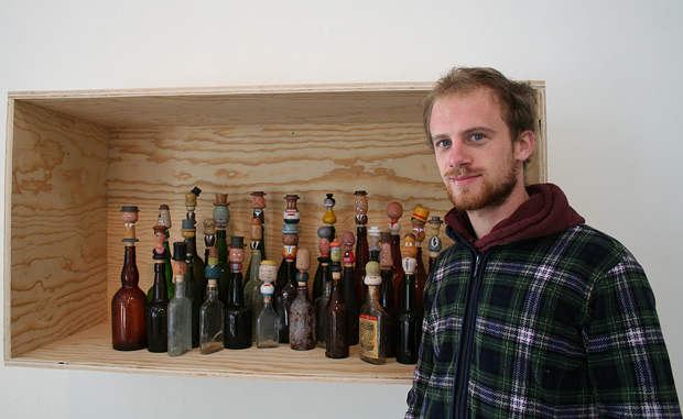 Mathis Collins with his 2011 artwork The General Assembly