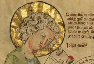 Detail of Saint John the Evangelist Writing / German