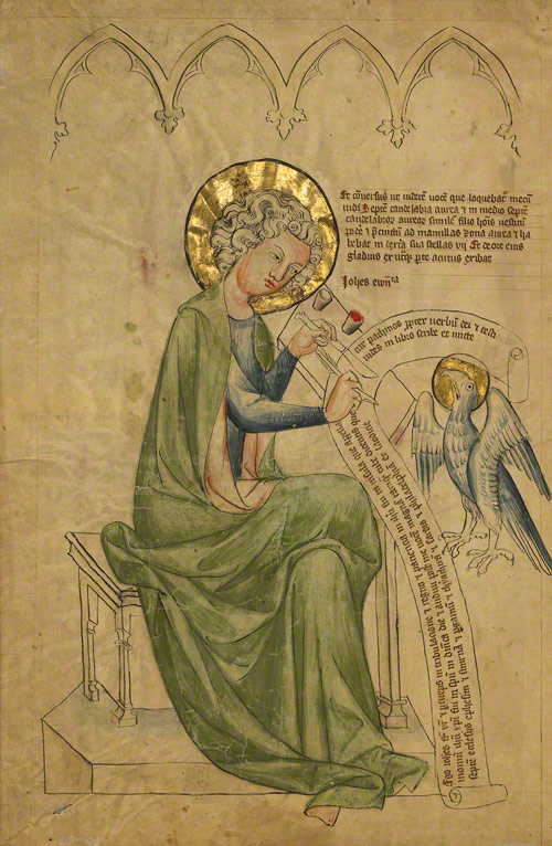 Saint John the Evangelist Writing / German