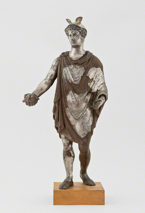 Statuette of Mercury from the Berthouville Treasure - pre-conservation view