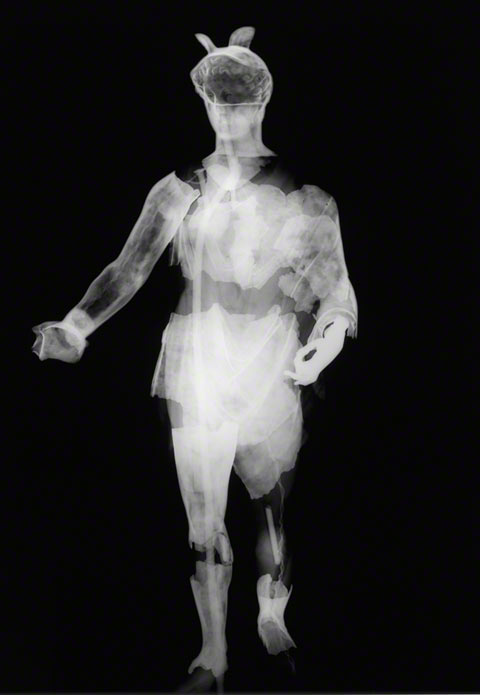 Statuette of Mercury from the Berthouville Treasure - X-ray view