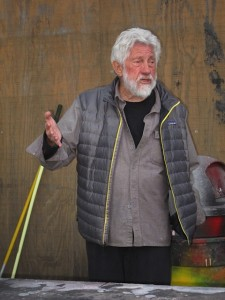 Ed Moses in his studio, December 18, 2011