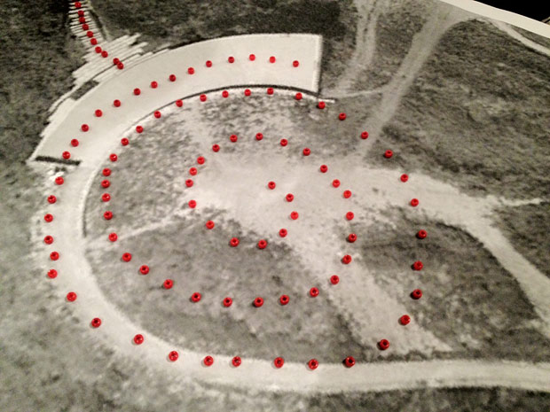 Lita Albuquerque's aerial plan of Spine of the Earth 2012