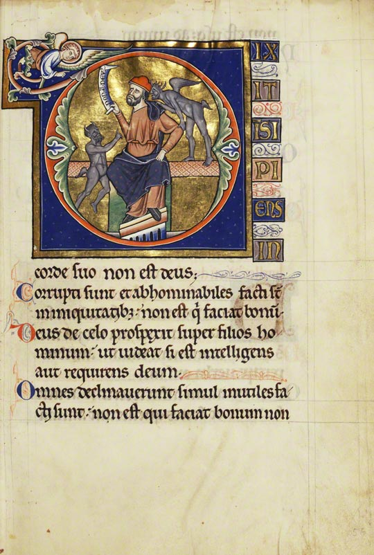 Initial D: The Fool with Two Demons / Master of the Ingeborg Psalter