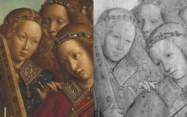 Ghent Altarpiece - Angel Musicians comparison