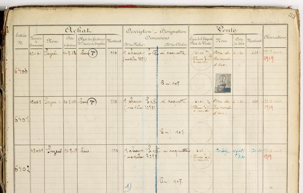 Page 33 of Livre de stock moderne 3, 1914-1926 / Maison Carlhian